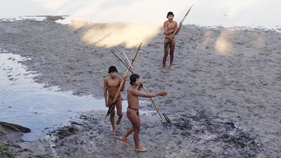 Several members of an isolated indigenous tribe from the Amazon (Funai)