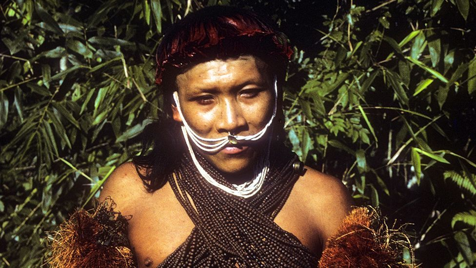A member of the Yora tribe from the border between Bolivia and Peru - 1986 (Kim Hill)