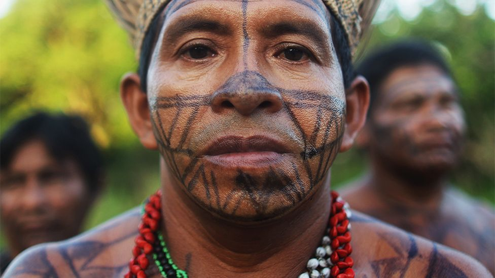 An indigenous man from the Brazilian Amazon (Mario Tama/Getty Images)