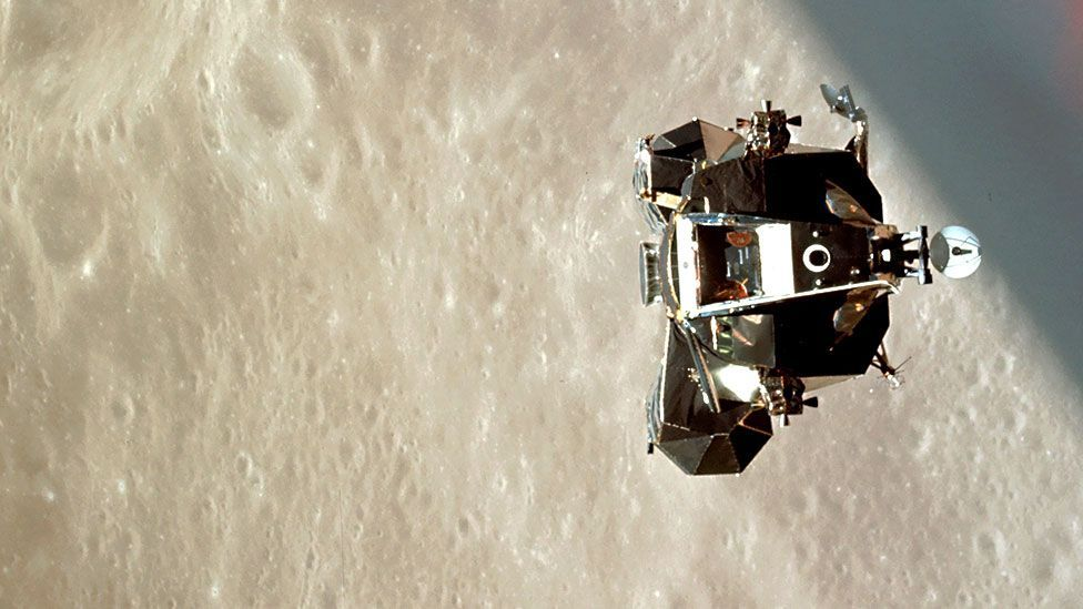 Cernan tested the lunar lander above the Moon's surface during the Apollo 10 mission (Nasa)