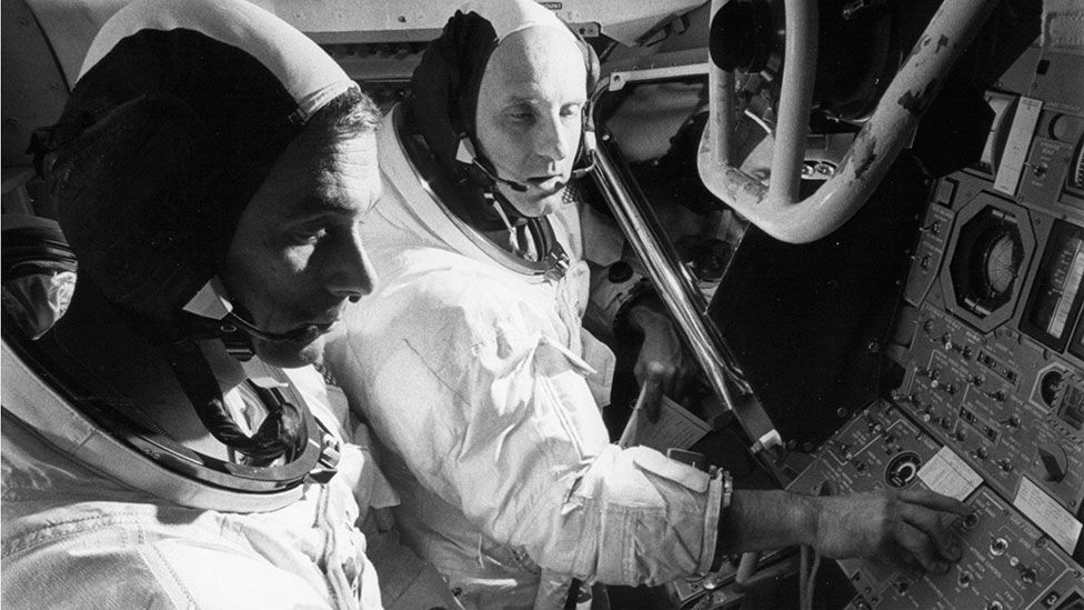 Gene Cernan (left) was one of nonly 12 men to walk on the Moon's surface (Nasa)