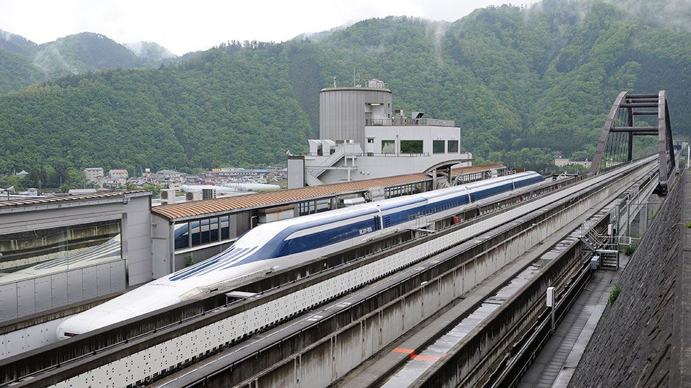 The speedy Maglev has to use completely different tracks to existing rail services (AFP/Getty Images)