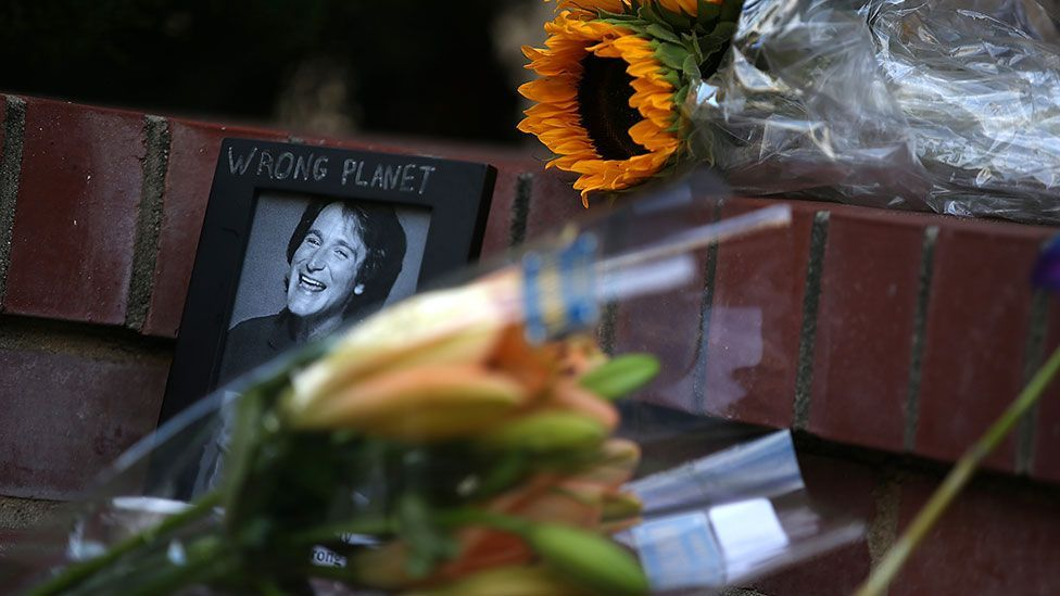 Fans of Robin Williams have paid tribute to the comedian, who was honest about his struggles with mental health problems (Getty Images)