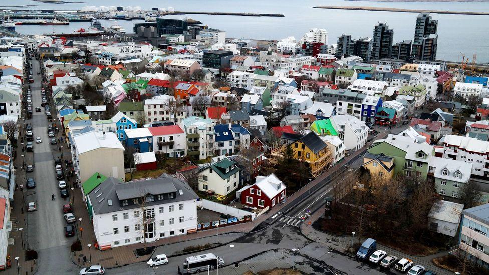 Reykjavik, Iceland, Neighbourhood of the Gods, sagas
