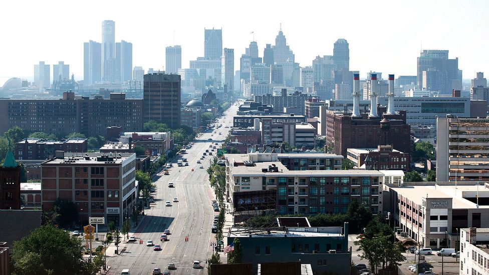 Detroit's quiet, broad streets make the city ideal for cycling. (Bill Pugliano/Getty)