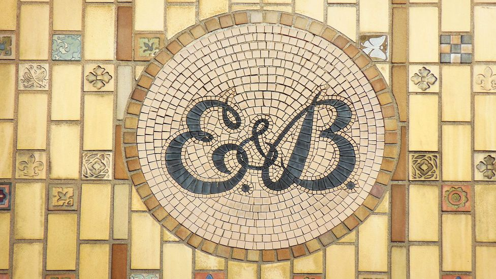 Eckhardt & Becker, whose symbol is shown here, started brewing beer on this spot in 1891. (Joe Baur)