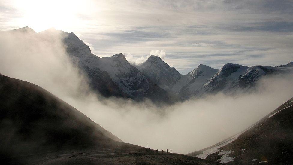 Crossing Thorong La Pass (5,416m) on Nepal's Annapurna Circuit. (Audrey Scott)