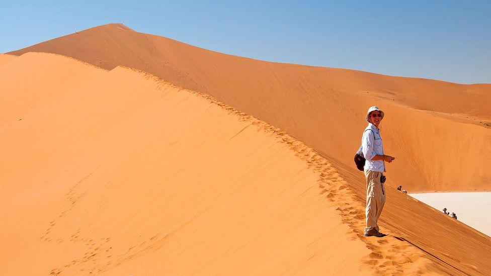 Dan in the desert of Namibia