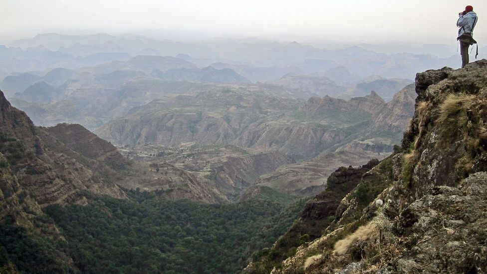 Audrey at work in Ethiopia's Simien National Park