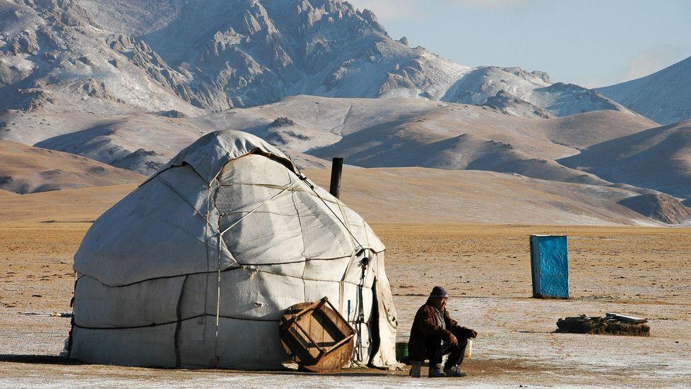 Tea at a Kyrgyzstan yurt