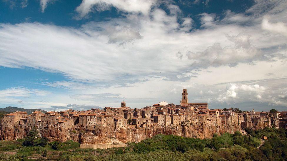The Tuscan town of Pitigliano