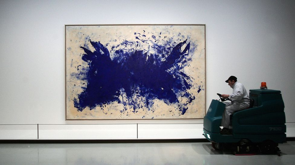Klein's 1960 painting Great Blue Anthropophagy, Homage to Tennessee Williams (Olivier Laban-Mattei/AFP/Getty Images)