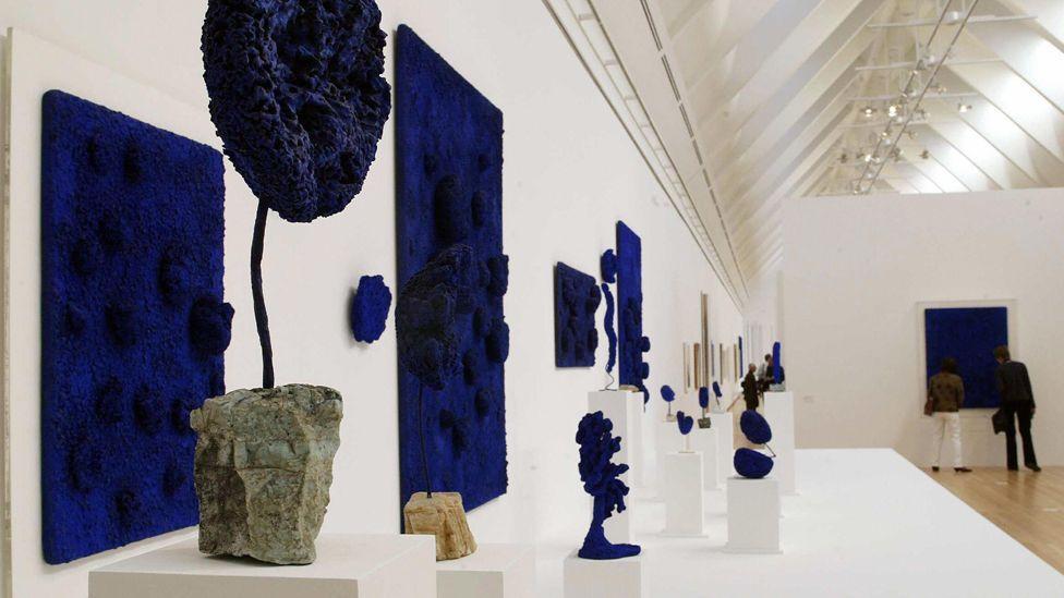 Klein's Blue Sponge Sculptures (Thomas Lohnes/AFP/Getty Images)