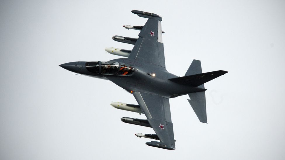 The Russian Yak-130 is being marketed as a light strike fighter as well as a training aircraft (AFP/Getty Images)