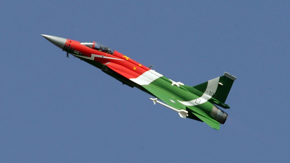 The Chinese JF-17 is a supersonic fighter plane with a price tag the same as the slower Scorpion (AFP/Getty Images)