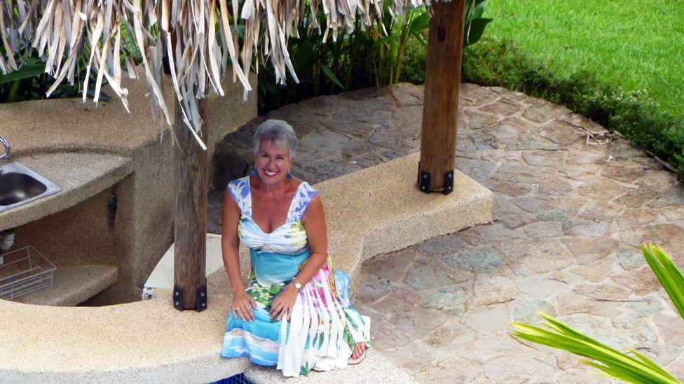Barbara Kocak in her tropical garden in Costa Rica, where she now lives. (Barbara Kocak)