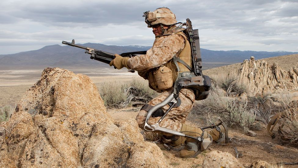 The HULC exoskeleton built by Lockheed Martin is designed to aid soldiers with heavy loads (Lockheed Martin)