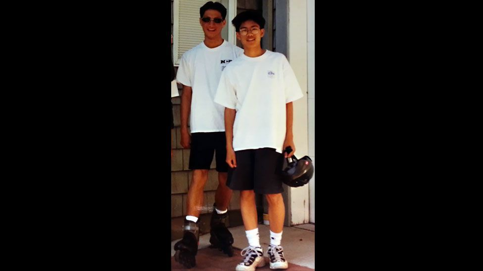 In the summer before his paralysis, Daniel and I went rollerblading and biking