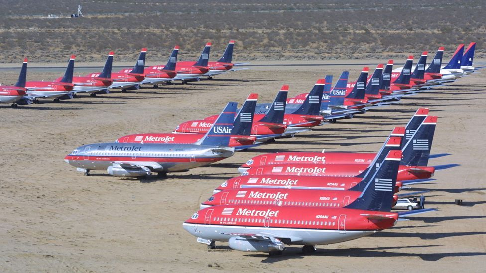 At Mojave Airport, more than 1,000 airliners ended up in the California desert after their flying days (Getty Images)