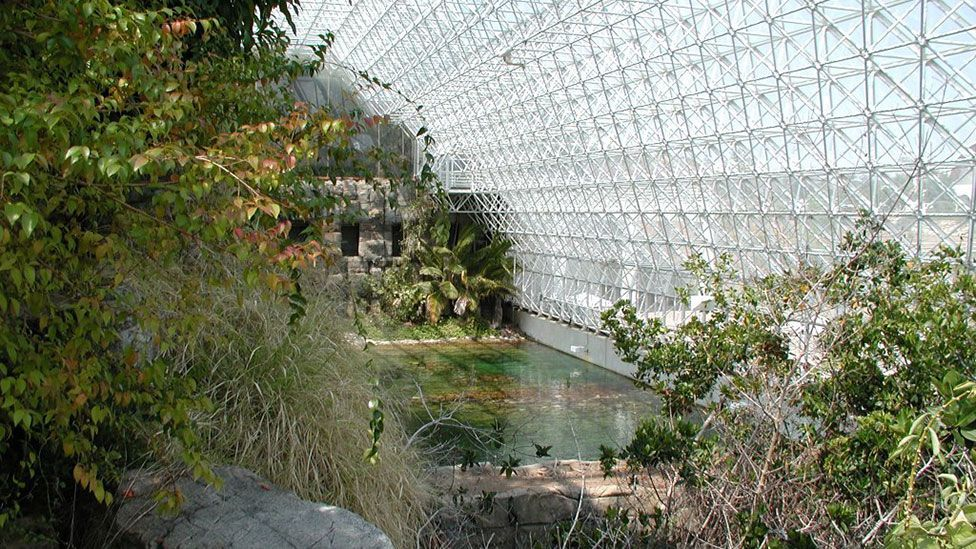Should spaceships be filled with living things, like the Biosphere 2 space colony simulator? (Colin Marquardt/Wikipedia)