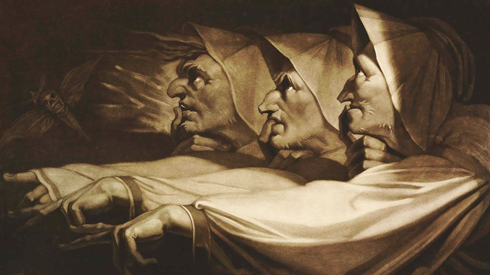 The Three Weird Sisters from Macbeth, 1785 (The Trustees of the British Museum)