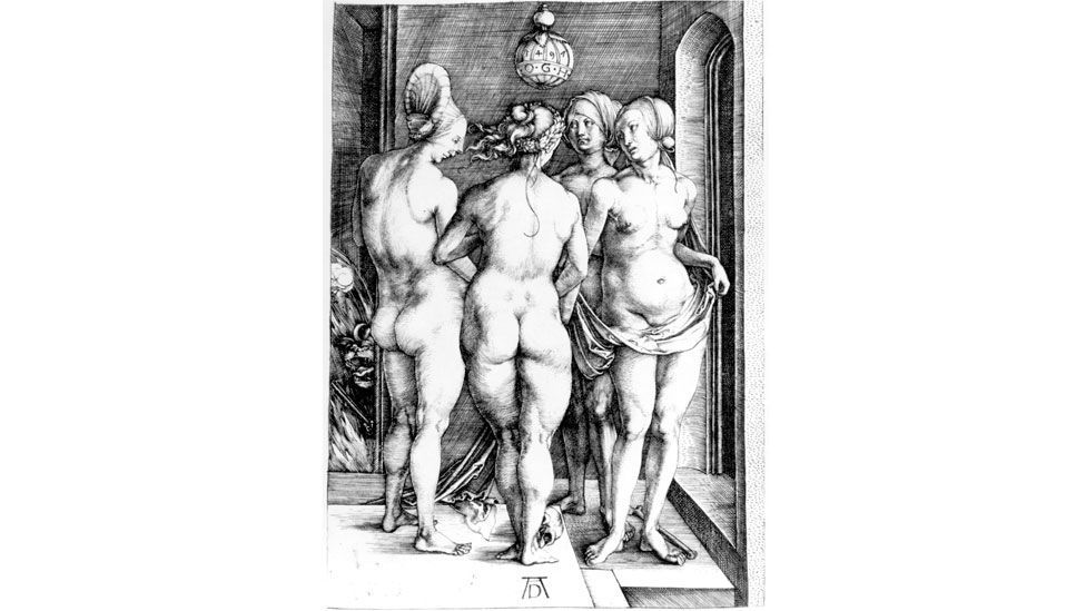 Durer's influential etchings portrayed witches as young and nubile or old crones (Albrecht Dürer)
