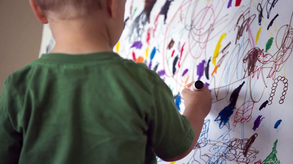 From a young age, children scribble - is it a graphic form of 'babbling'? (Getty Images)