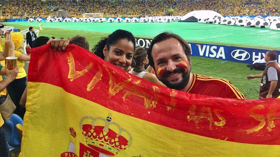 Spaniard Javier Garcia-Ramos attends a football game at Rio de Janeiro's Maracanã Stadium (Javier García-Ramos)