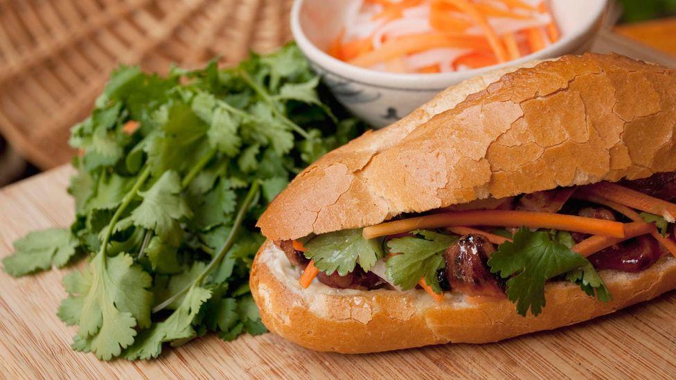 Banh mi, ready to eat. (Rebecca Skinner/Getty)