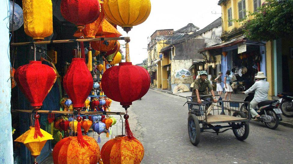 A man rides a rickshaw in Hoi An, Vietnam. (Hoang Dinh Nam/Getty)