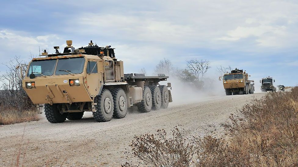The military's driverless vehicles avoid exposing their personnel to road bombs (Lockheed Martin)