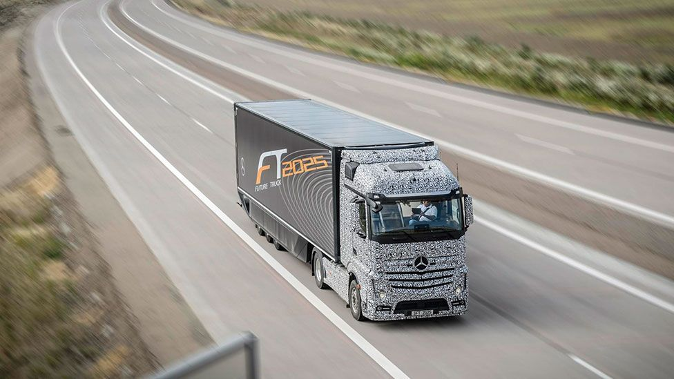 Autonomous trucks have already been tested on roads in Europe (Daimler)