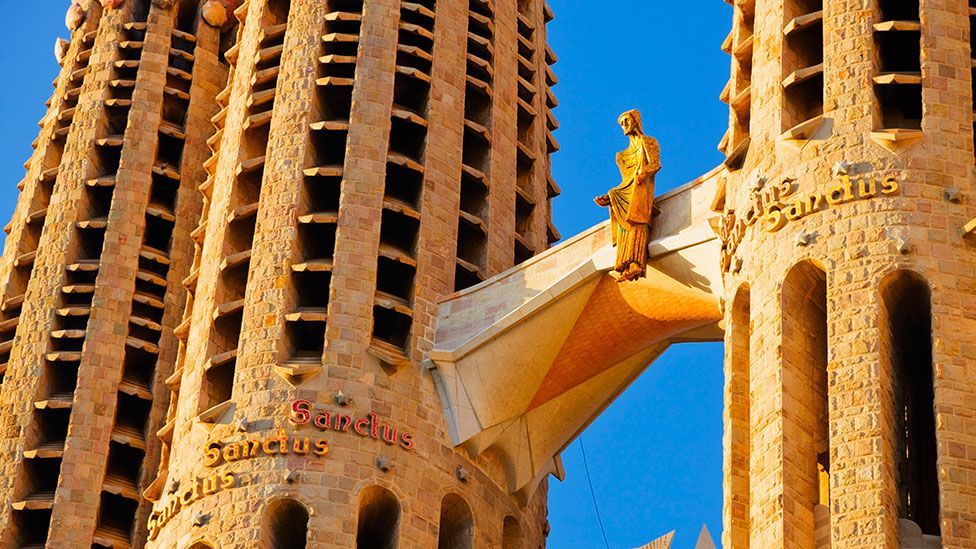 George Orwell called the Sagrada Familia 'one of the most hideous buildings in the world' (Getty)
