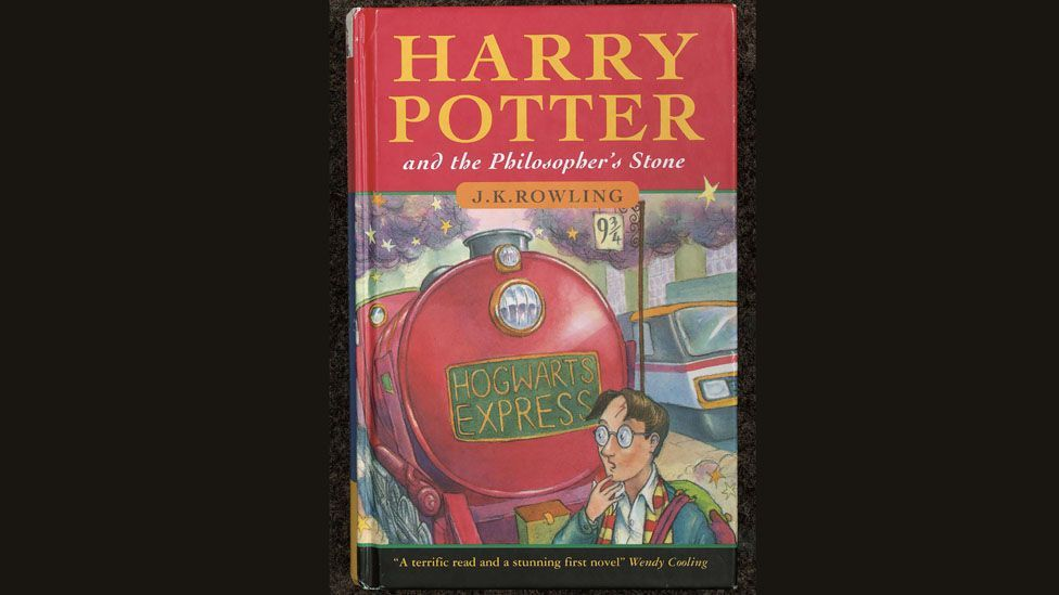 J K Rowling's first novel, Harry Potter and The Philosopher's Stone, commands high prices at auction. (Christie's/Getty Images)