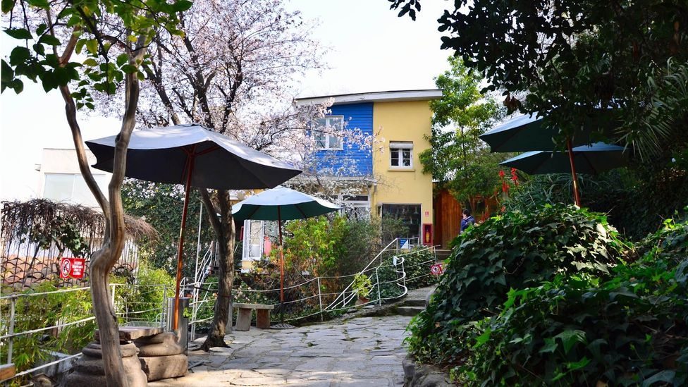 """Neruda's """"love nest,"""" La Chascona, in Santiago. (Dave Seminara)"""