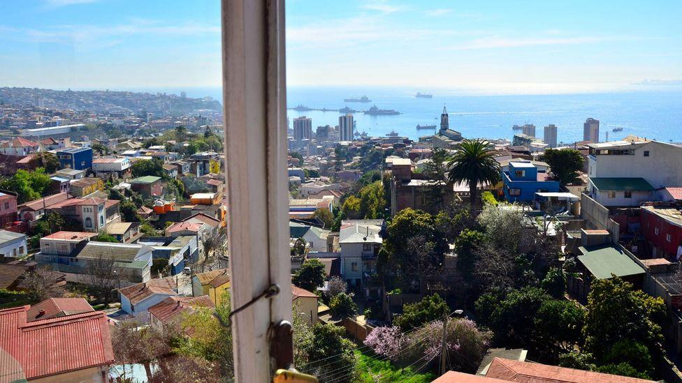 Looking out at Valparaiso from La Sebastiana. (Dave Seminara)