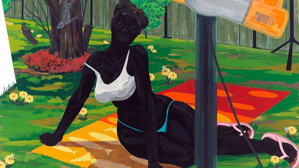 Kerry James Marshall, Untitled (Beach Towel), 2014 (All rights reserved/Courtesy David Zwirner, London)
