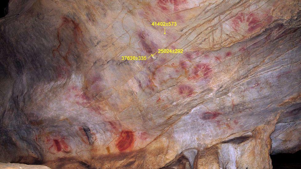 Ancient paintings of hands. (Marcos Garcia Diez)