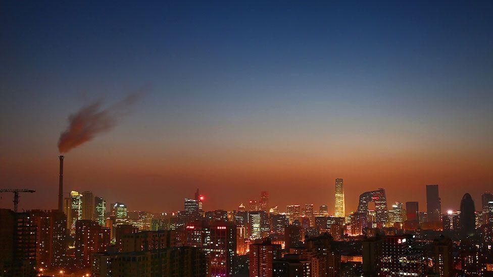 The skyline of Beijing - often blanketed in smog (Getty Images)
