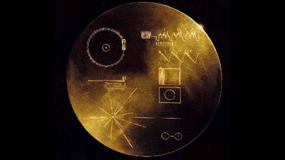 The golden discs aboard the Voyager spacecraft require aliens to understand how to play a record (Nasa)