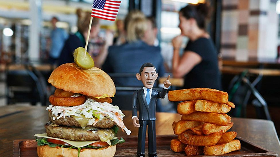 "While at the international terminal, try the ""Big Obama"" burger at Windmill & Co restaurant. (Daniel Munoz/Getty Images)"