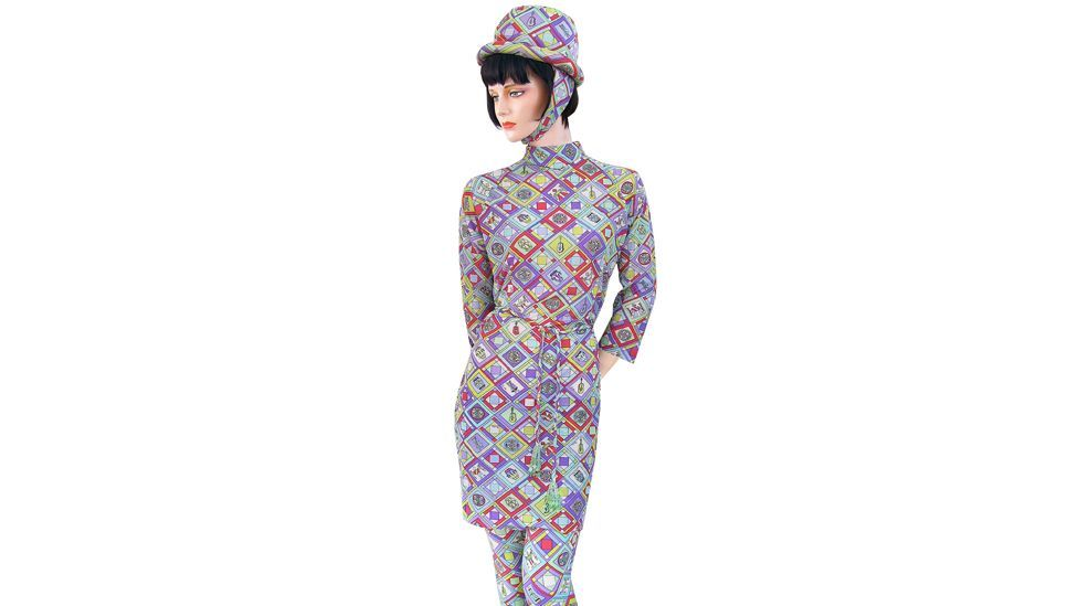 """""""This was the uniform of the American airline that was in business in the 1960s and '70s – the Emilio Pucci designs were really special, with space helmets and bright colours."""""""