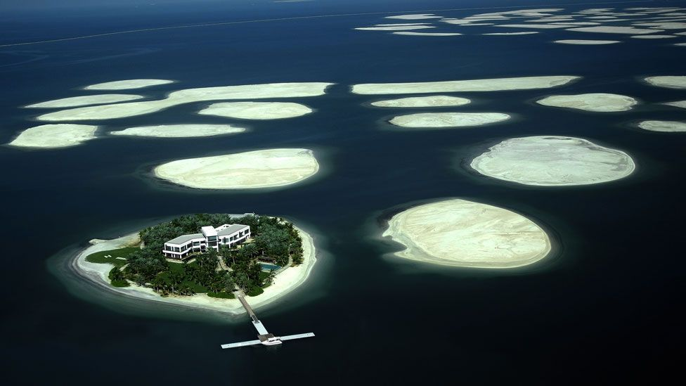 Manmade islands require redrawn maps (Getty Images)