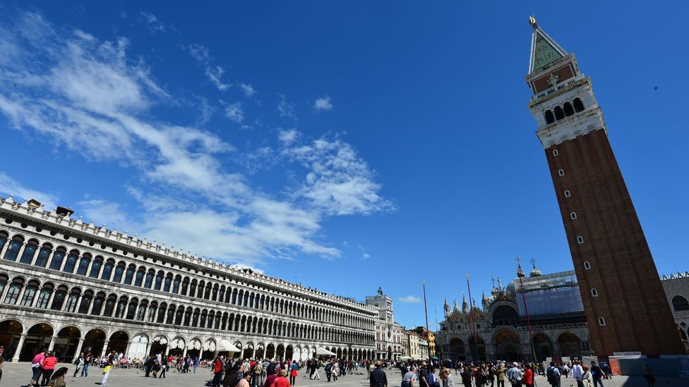 """The Piazza San Marco symbolised the economic and political power of Venice and was called """"the drawing room of Europe"""" by Napoleon (Getty)"""