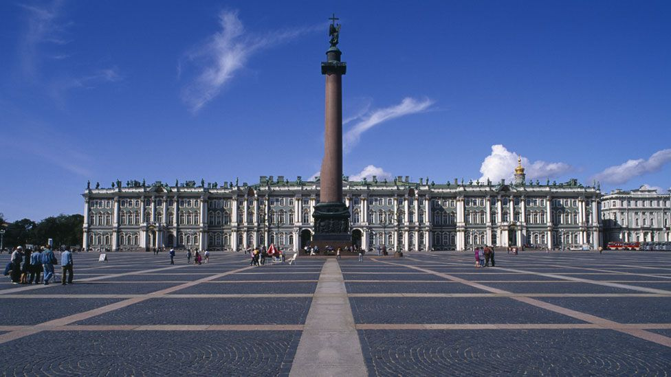 Palace Square in St Petersburg, Russia, was a focal point of the Bolshevik revolution in 1917 (Getty)