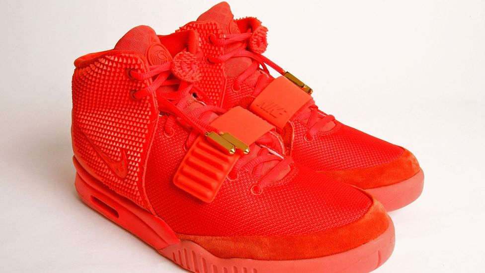 The Nike Air Yeezy 2 Red October is one of the most sought after shoes on the secondary market. (Mike Lawrie/ Getty Images)