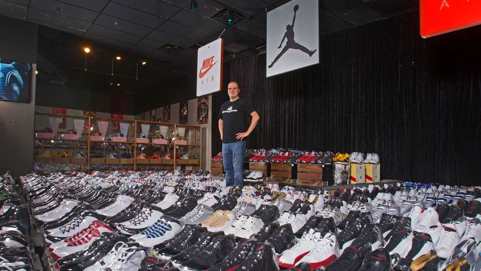 Jordan Geller created the world's first Nike museum from his collection of more than 2,000 sneakers. (ShoeZeum)
