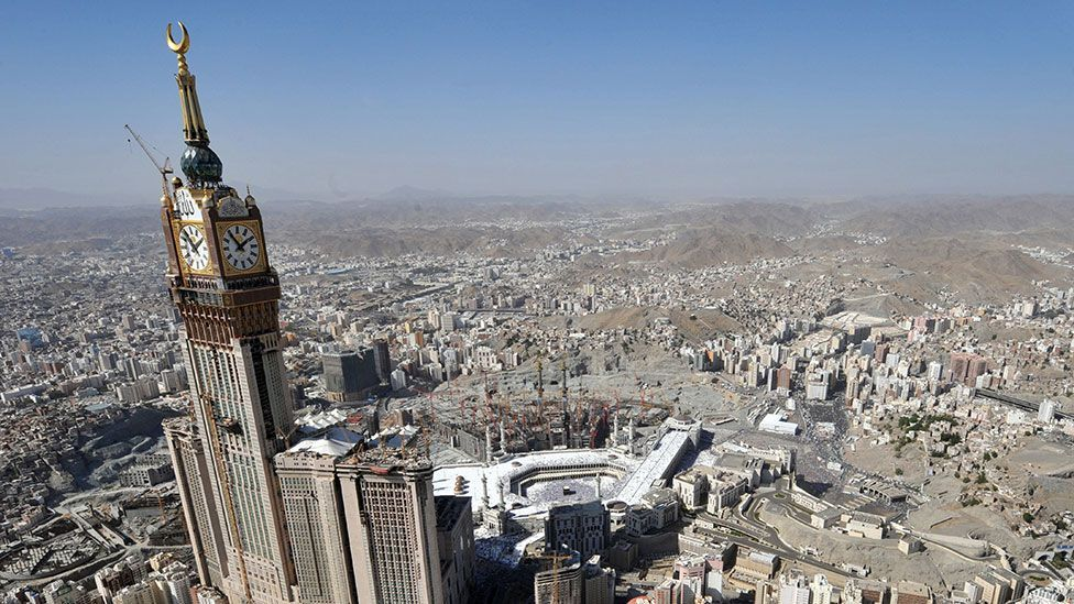 At 1,971ft (601m) and 120 storeys, the Mecca Royal Hotel Clock Tower became the second tallest building in the world in 2012 (Fayez Nureldine/AFP/Getty Images)