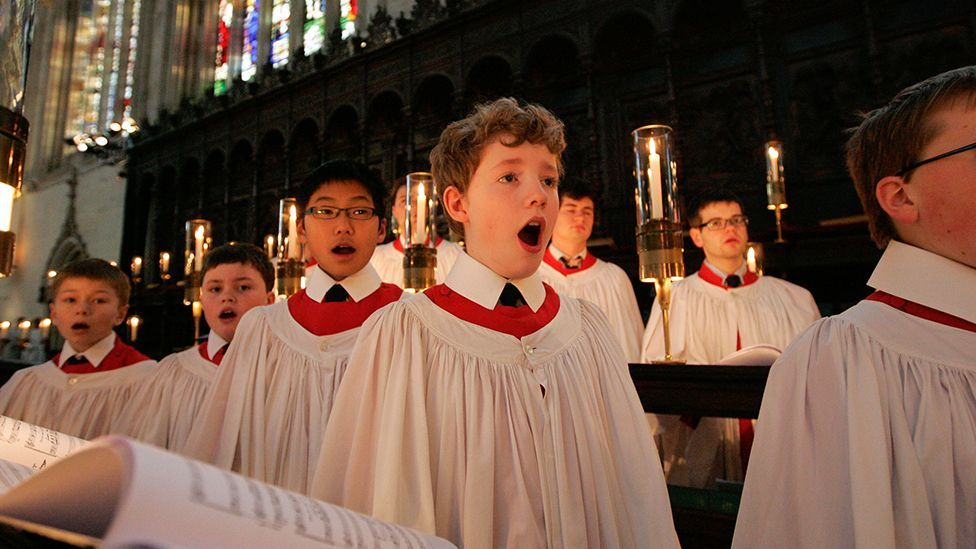The Festival of Nine Lessons and Carols at Kings College, Cambridge is recorded by the BBC each year and broadcast throughout the world (Alamy)