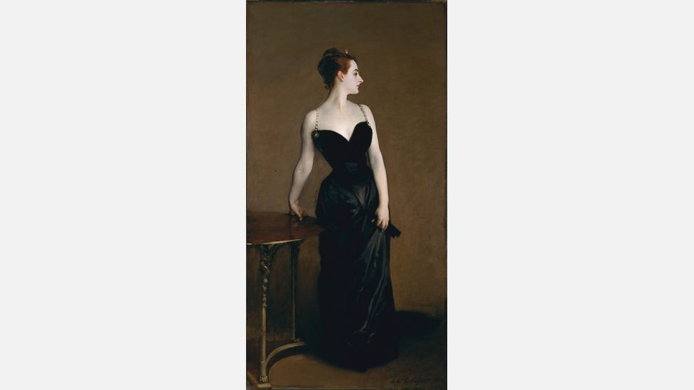 John Singer Sargent's Portrait of Madame X caused a massive scandal upon its debut in Paris in 1884, in part because it emphasised the sexual allure of a married woman (Wikipedia)
